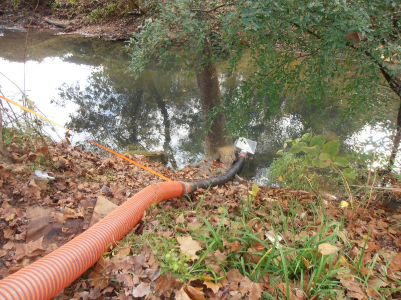 4th fill line going into creek