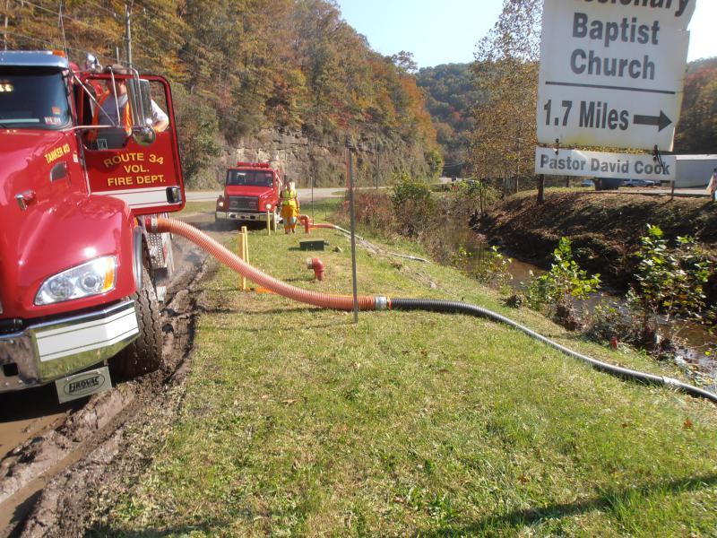 Route 34 Tanker 413 filling