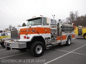 Eureka Engine 54-4 - a 1992 Alleghany 1,750 gpm pumper that operates as a water supply unit.