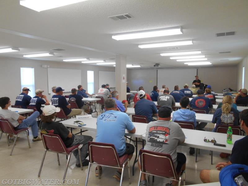 The Shelby County fire/rescue training center in Calera, Alabama was used for the classroom session on Saturday morning.