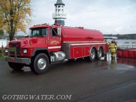 "Tanker 301 is a 3500-gal vacuum tanker that is quite a ""big water"" hauler."