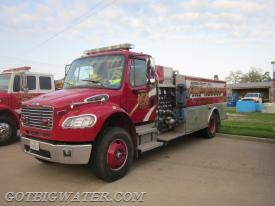 Bastrop Tender 243 - 1,000 gpm pump, 2,000 galons of water, and a 3,000 gallon dump tank.
