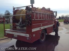 Besides carrying a bunch of hose and having a pump, a hose reel truck needs to carry a myriad of appliances and adaptors to make most any water supply scenario work.