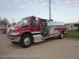 Tanker 2 carries 2,000 gal of water and a 2,100-gal dump tank. The rig is also equipped with a 1,000 gpm pump.