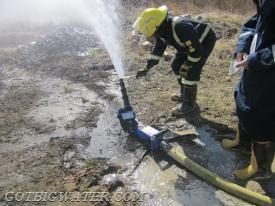 Flowtesting a portable pump.