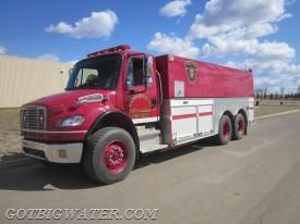High Level FD Tender 1 carries 14,000 liters of water and has a 12,000 liter dump tank.