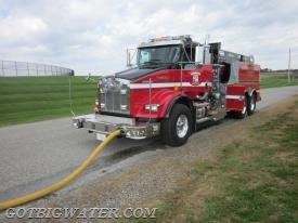 "The front discharge on this tanker helps support the ""single-lane"" concept in terms of apparatus positioning and space allocation."