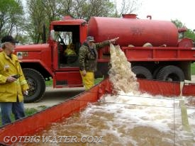 A forestry service brush tender that can really dump and run if needed.