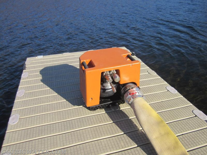 The Otter pump waiting to have the hydraulic lines connected.