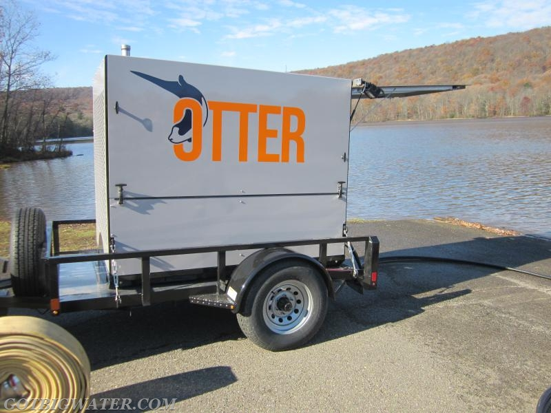 For the demo, the Otter came on a trailer.