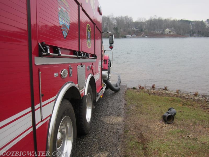 The folks used a Fol-Da-Tank suction elbow to aid in reaching the deeper water near the boat launch ramp.
