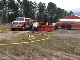 Eagletown Engine 4022 (1250 gpm) takes over water supply to the attack pumper and nurse tanker ops are stopped.