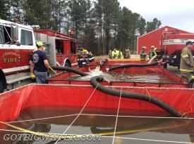 Folks from across McCurtain County, Oklahoma spent their Sunday afternoon hauling water with tankers so that new members could learn the process and old members could refine their skills.