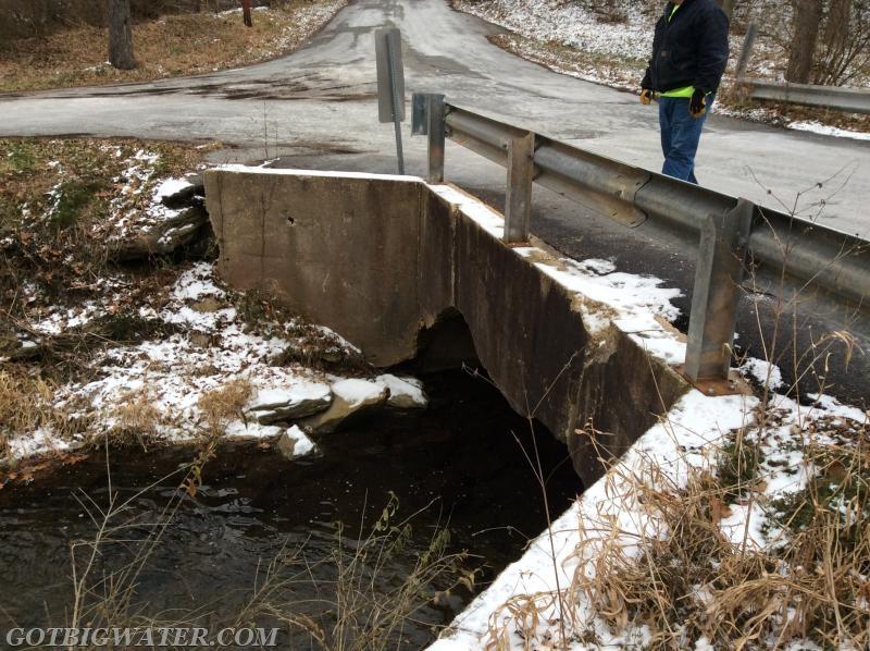 Good flow downstream of the bridge.