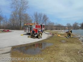 "Coralville Engine 72 setting up the first fill site using two turbo drafts and an ""open-relay"" arrangement."