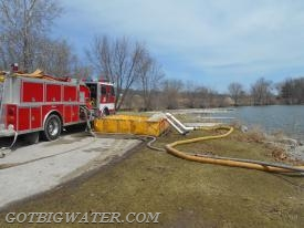Dual Turbo Draft supply operation for the Coralville pumper.