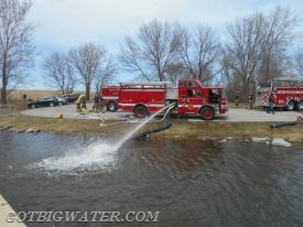 North Liberty Engine 117 set up a second fill site.