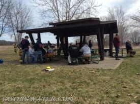 A picnic lunch on Sunday provided by the Solon FD.