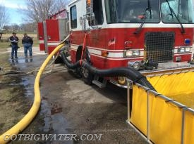 A second, 6-inch suction line was put into operation...also using a Fol-Da-Tank suction elbow.