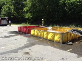 The water supply drill used a 2-tank arrangement.
