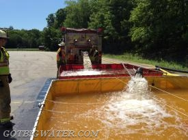 Dumping and transferring water.