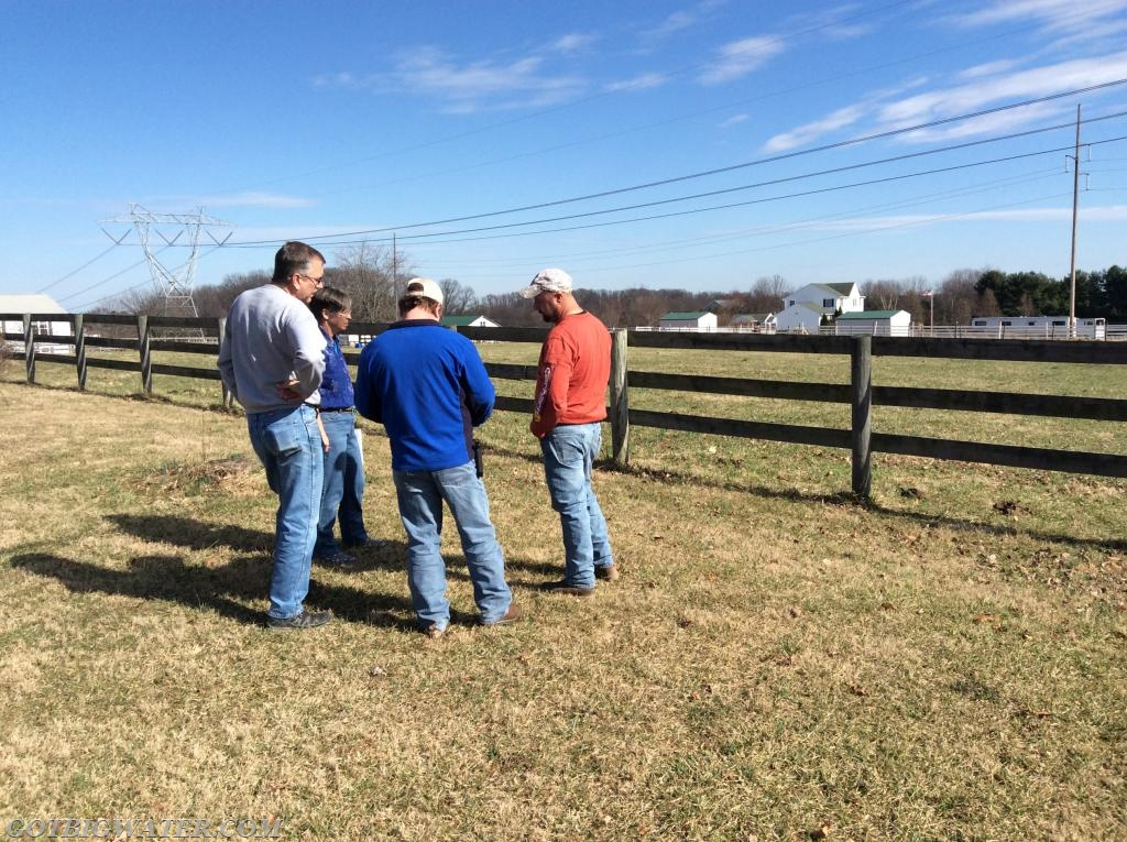 The initial, on-site meeting between County officials, the contractor, and the property owner to review the plans and proposed work schedule.