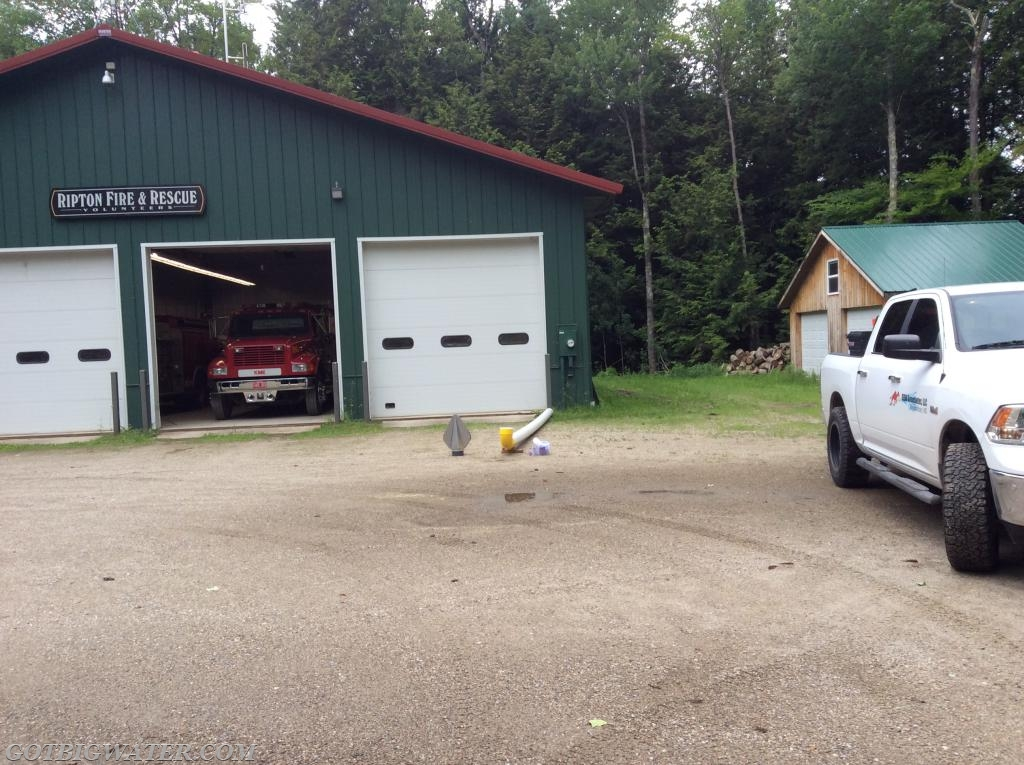 Some assembly work was completed at the Ripton VFD fire station.