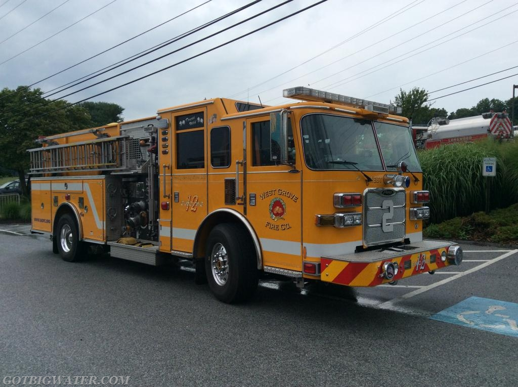 West Grove Engine 22-2 (2000 gpm) supported dump site ops by supplying jet siphons.