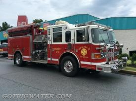 Union Engine 21-2 (1750 gpm/1000 gal) operated as the dump site engine.