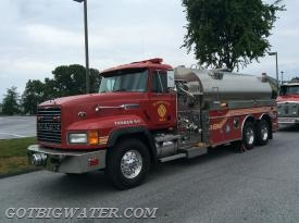 Quarryville Tanker 5-7 (Lancaster County 3500-gal) was second tanker on the second Tanker Task Force.