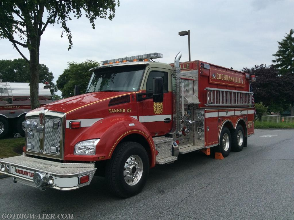 Cochranville Tanker 27 responded as part of the first Tanker Task Force.