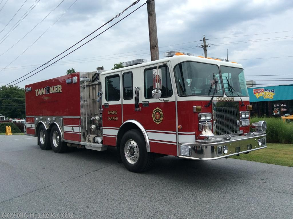 Hockessin Tanker 19 (Newcastle County, DE - 2500-gal) responded on the second Tanker Task Force.