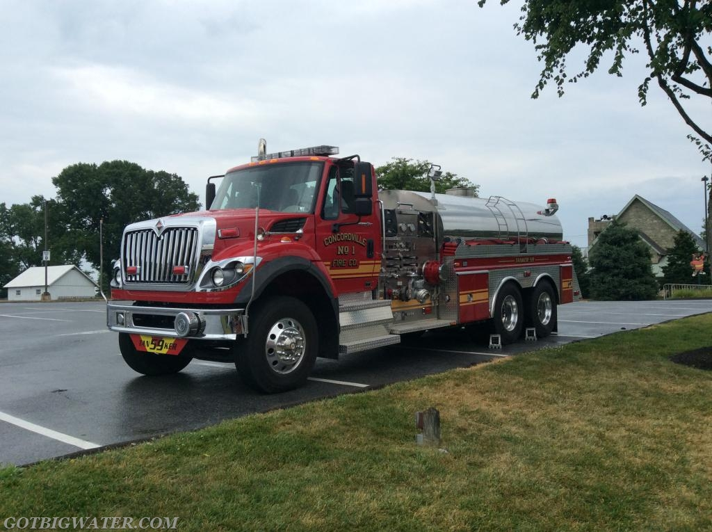 Concordville Tanker 59 (Delaware County - 2500 gal) was part of the first Tanker Task Force.