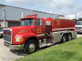 Cicero Tanker 24: 3000-gal tanker with 500 gpm pump and twin, 3000-gal dump tanks.