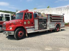 Millerton Engine 51-14 (1250 gpm) served as the first pumper added to the relay operation.