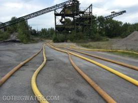 5,300 feet of 5-inch LDH was used as the hose layout.