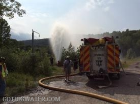 All water flow occurred through Amenia Squad 31-12.