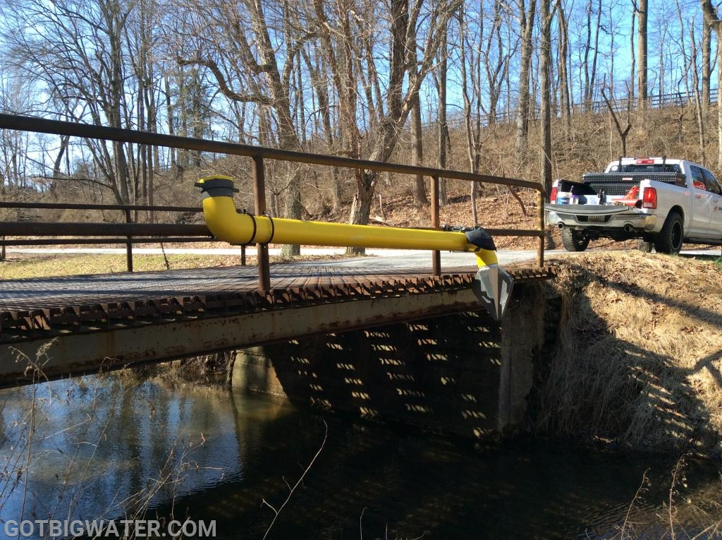 The challenge of this installation was the 2-inch bridge railing structure to which the system had to be attached.