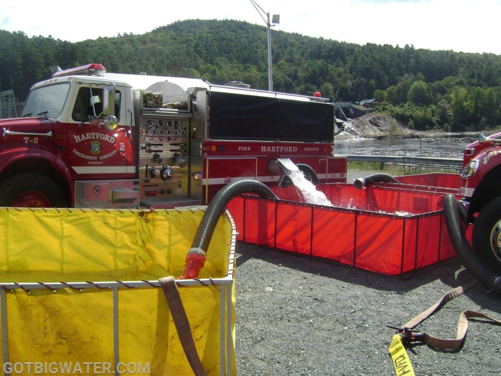 Tanker operations during our 2011 Rural Water Supply Operations Seminar in the Town of Hartford.