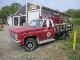 Unit 85 is a specialized water supply piece operated by the Prudence Island VFD.  The rig is equipped with a large, US Navy dewatering pump and is used to support water supply operations on the island.
