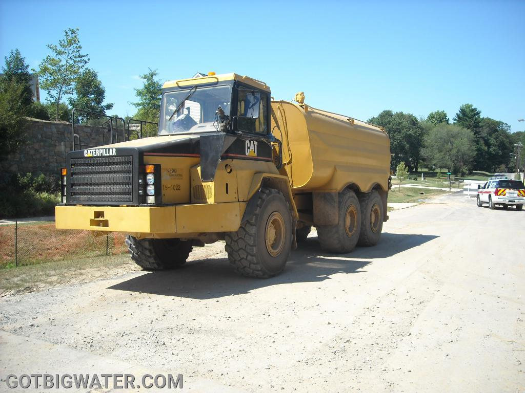 Water Truck #1 - not sure of the size but looks to be in the 2500-3000 gallon range.